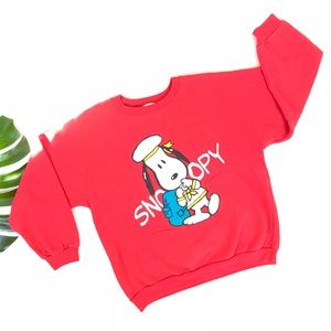 Vintage nautical Snoopy crewneck sweatshirt 80s